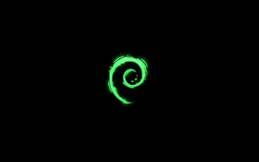 Debian Darkness Wallpaper by Kryuko