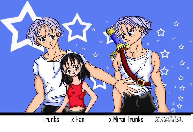 Trunks X Pan X Mirai Trunks By Alexeigirl
