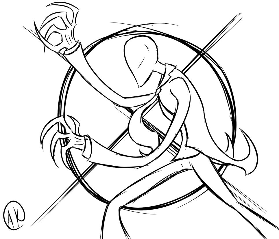Slender man by thezealotnightmare on deviantart for Slender man coloring pages