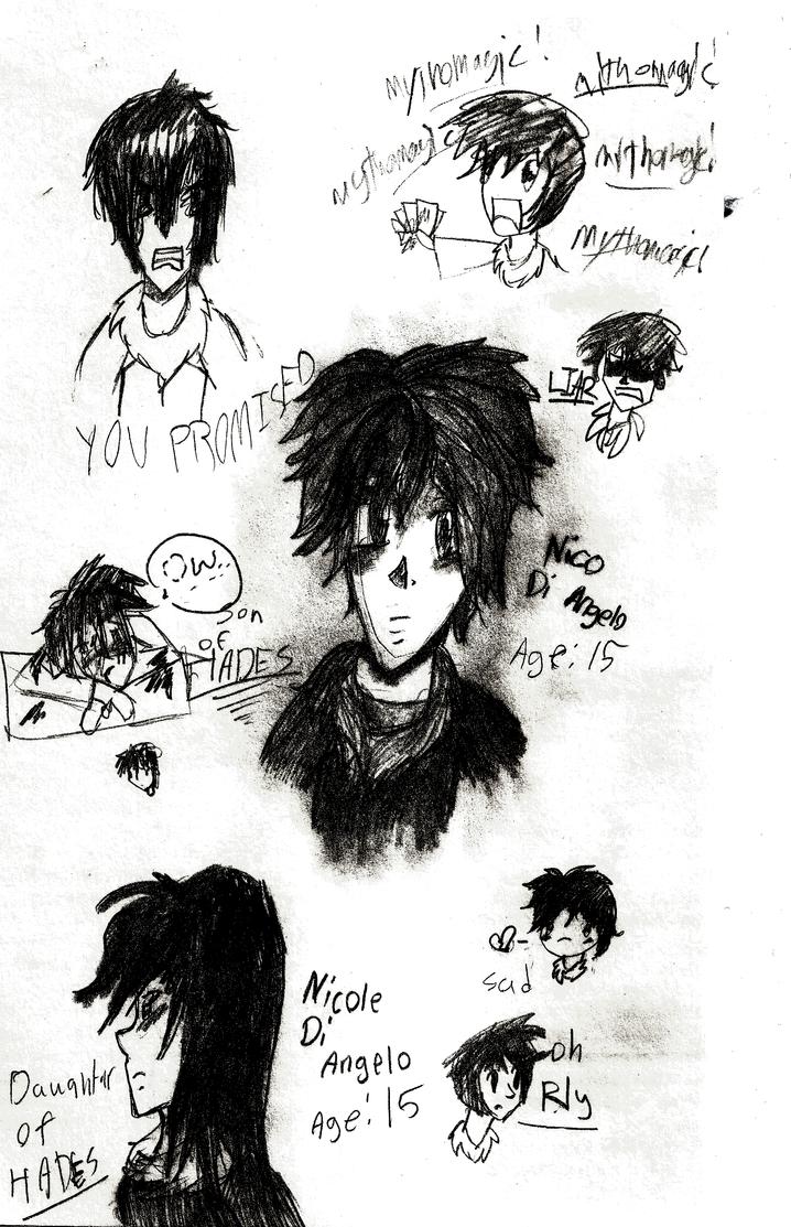 how to draw nico di angelo