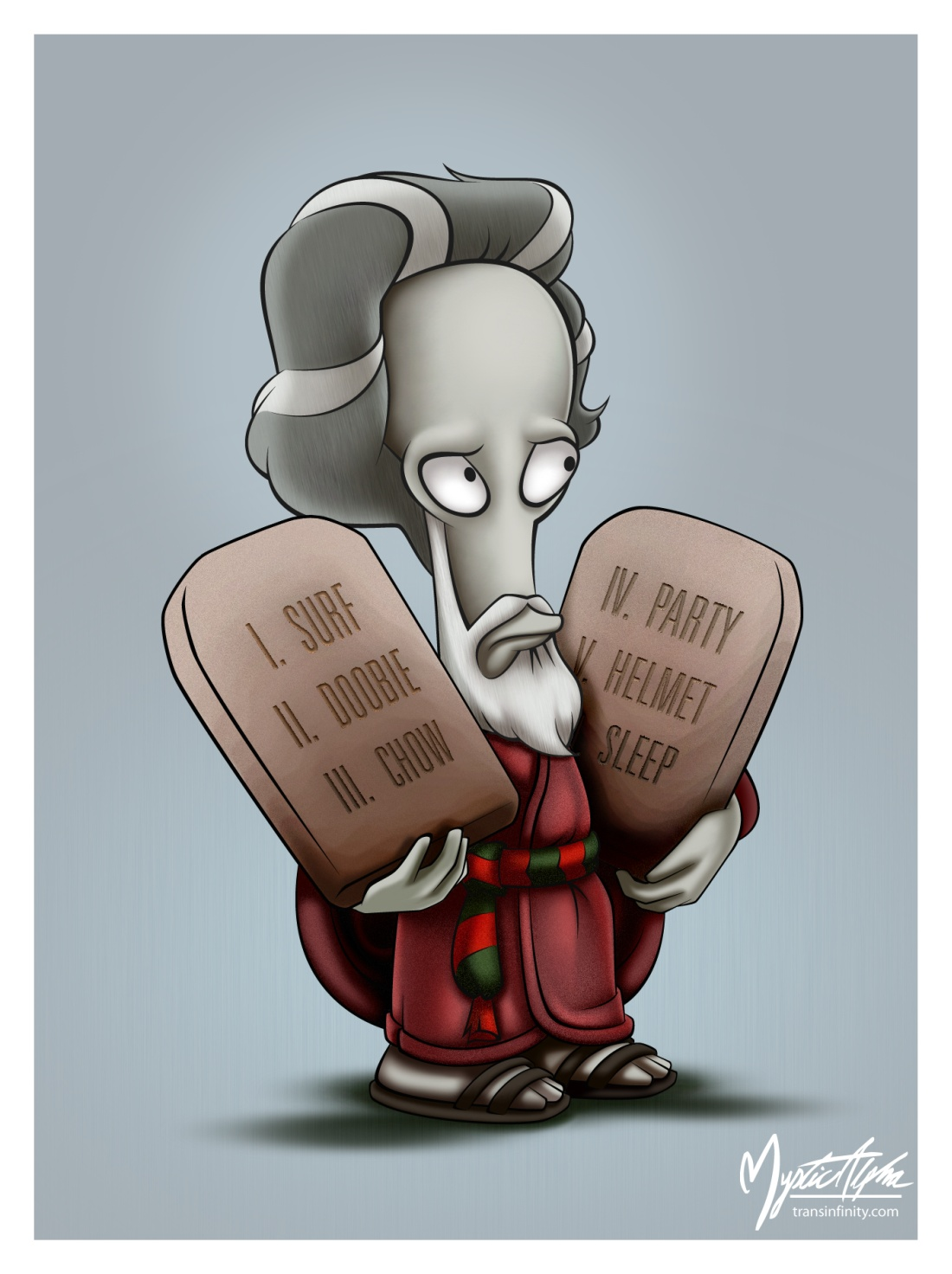 Roger as Moses by mysticalpha