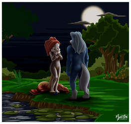 Minerva and Wilford at Pond by mysticalpha