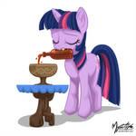 Twilight Sparkle Drinking