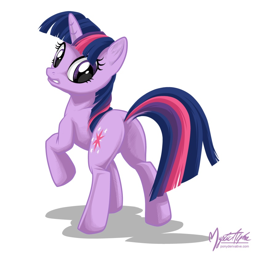 Twilight Sparkle Looking Back by mysticalpha