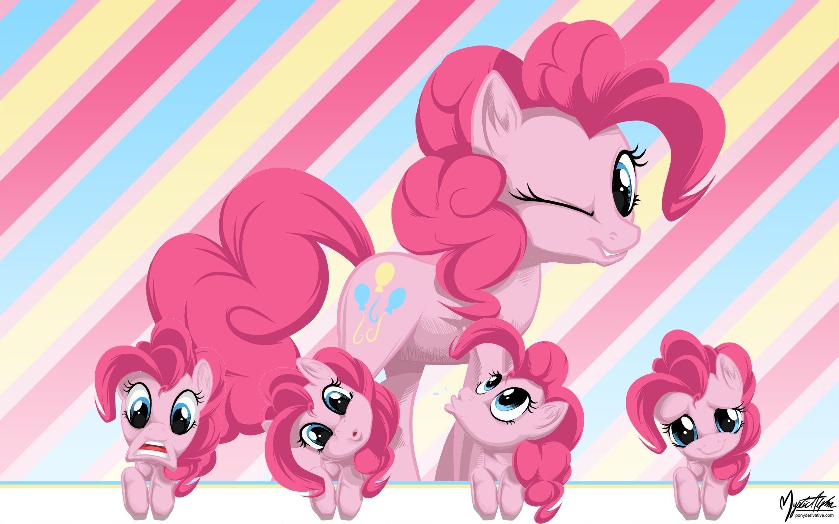 Pinkie Pie Wall Faces