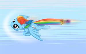 Rainbow Dash Flying Wall by mysticalpha