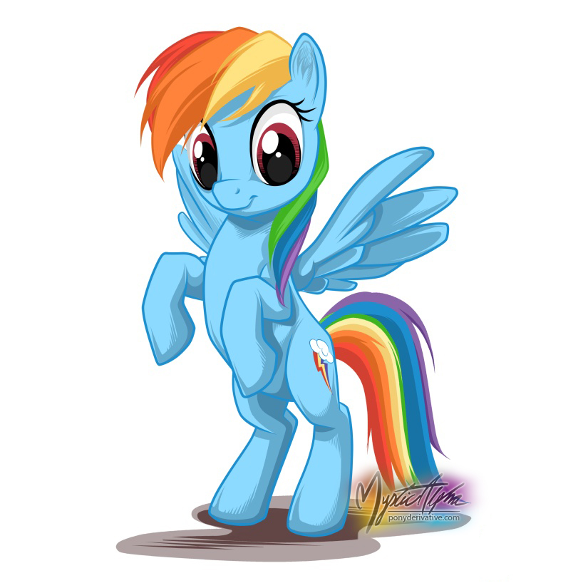 Rainbow Dash Stand by mysticalpha