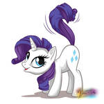 Rarity Whips Tail