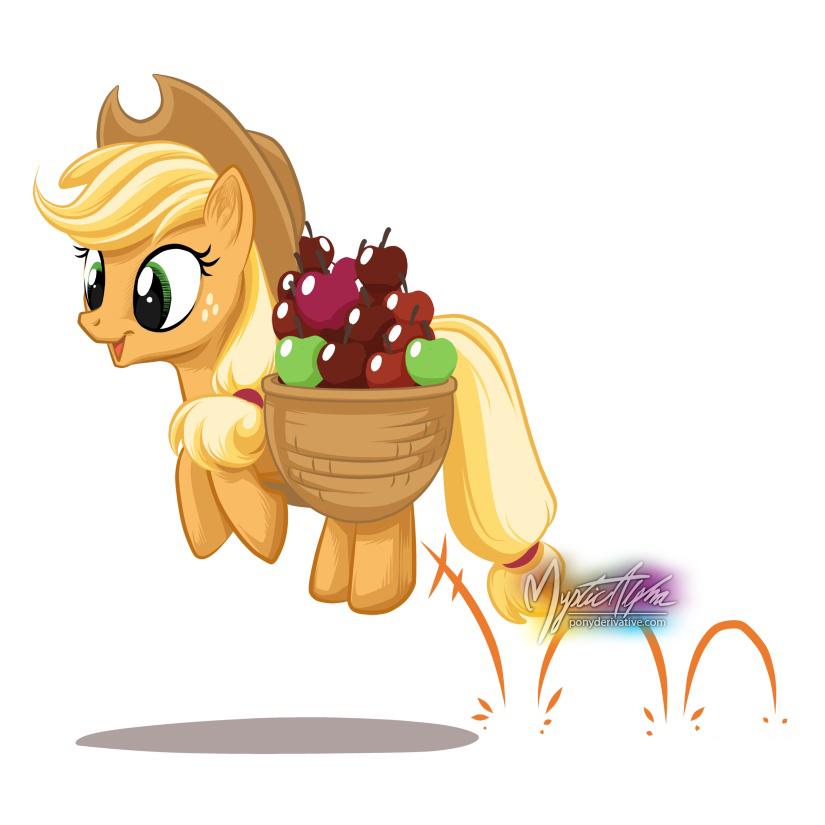 Applejack Hop by mysticalpha