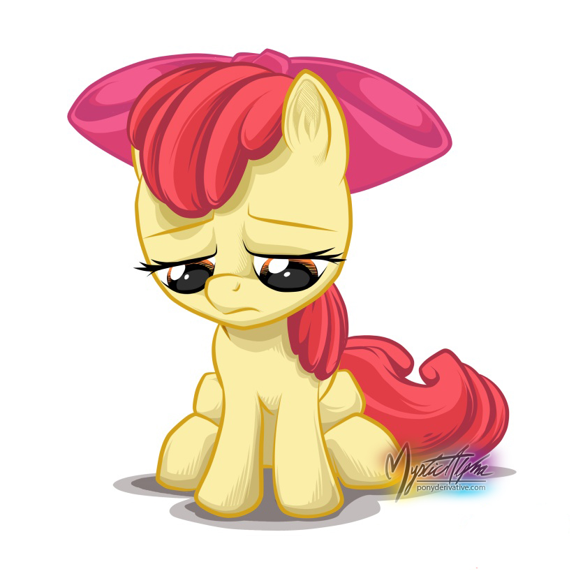 Sad Apple Bloom 2 by mysticalpha