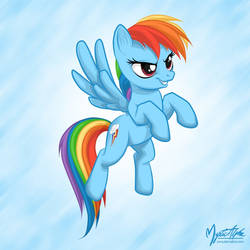 Rainbow Dash Flying 02