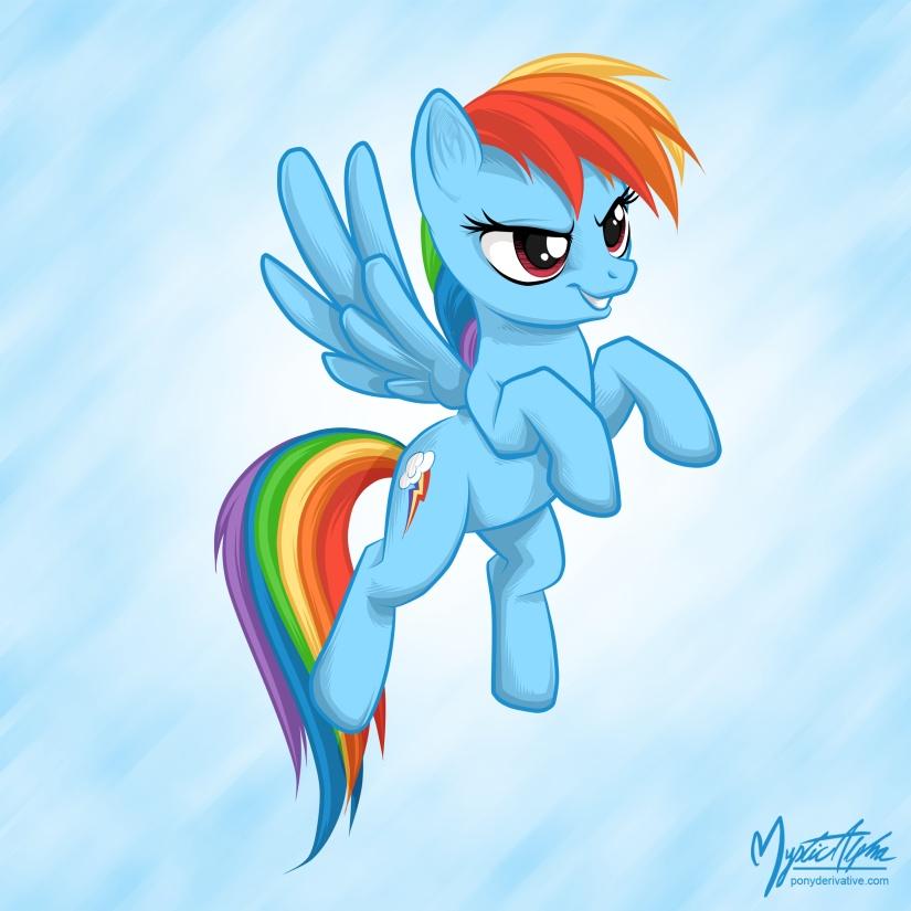 Rainbow Dash Flying 02 by mysticalpha
