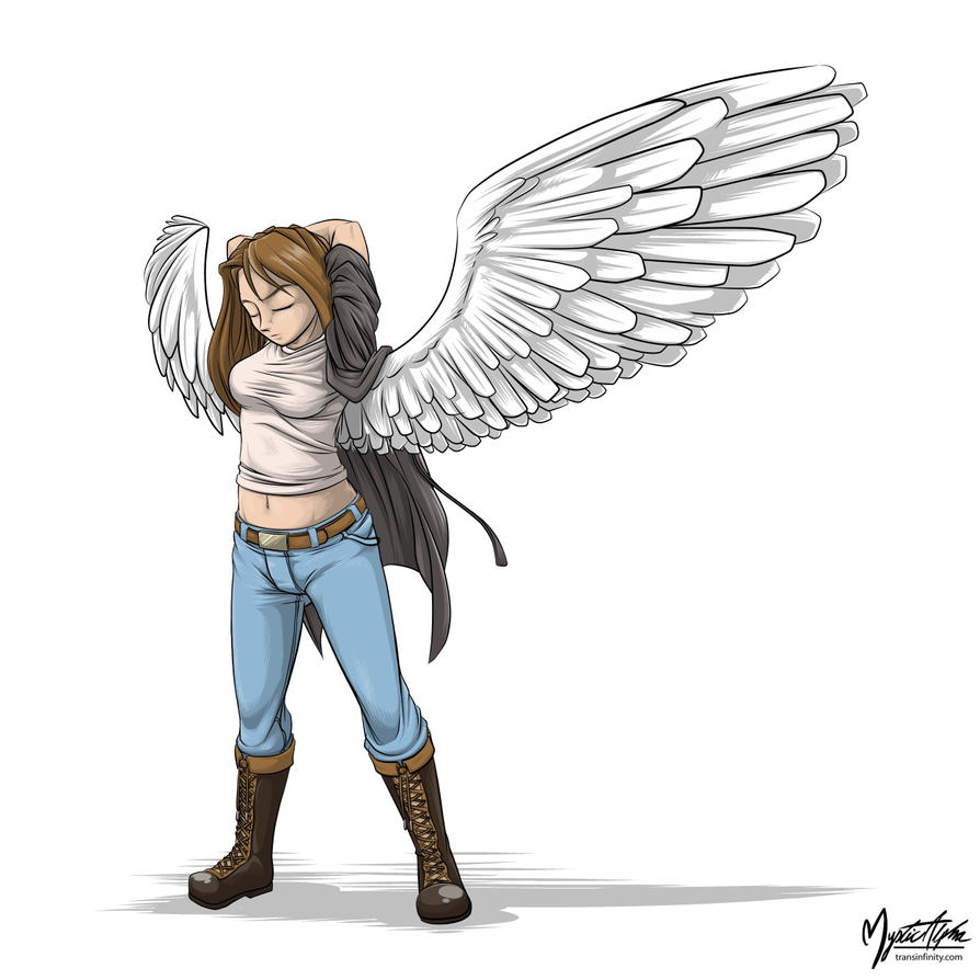 Winged Girl by mysticalpha