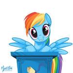 Rainbow Dash at Podium