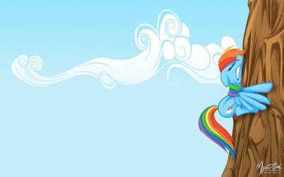 Rainbow Dash Mountain by mysticalpha