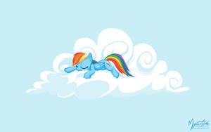 Rainbow Dash on a Cloud 07 by mysticalpha