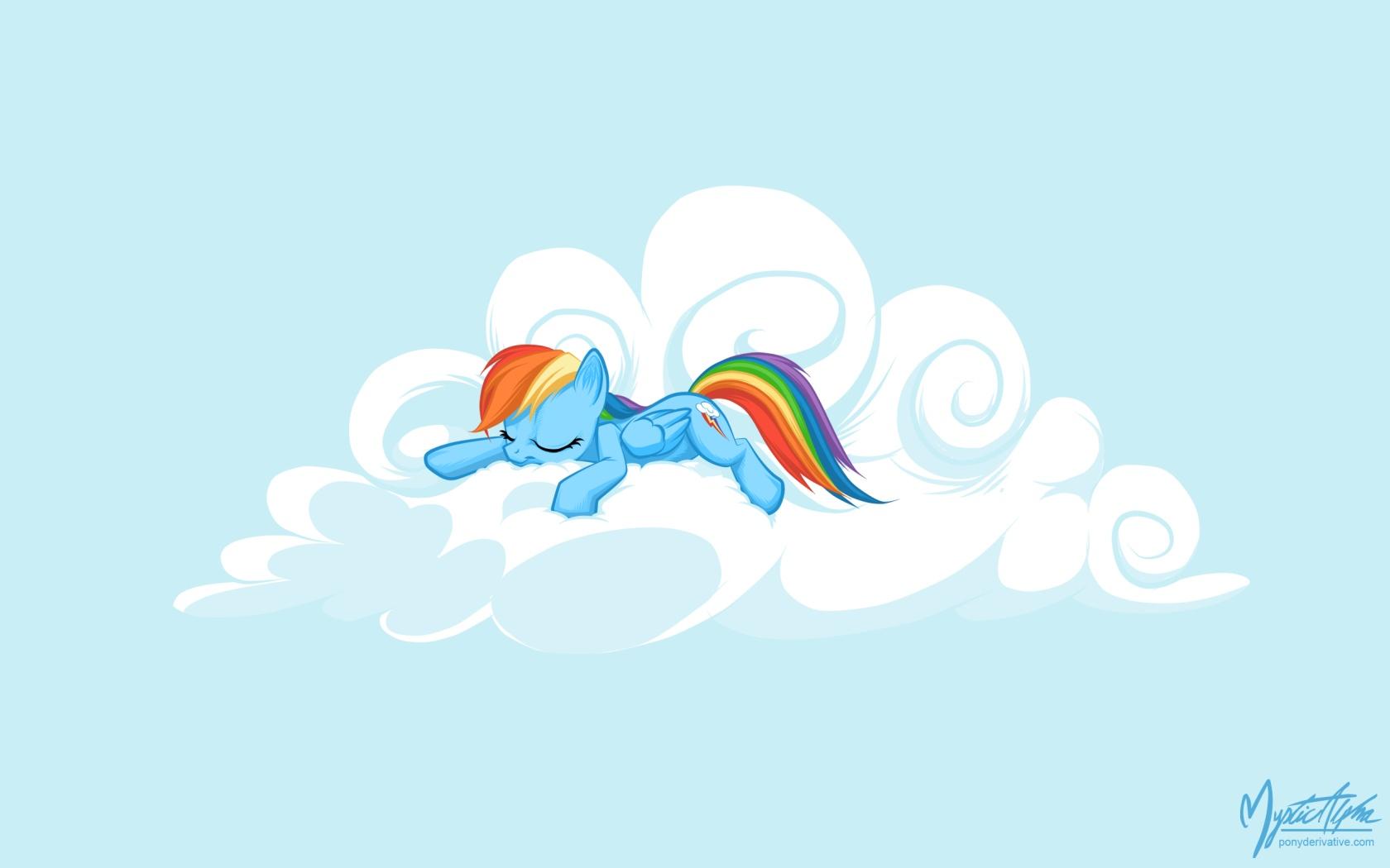 Rainbow Dash on a Cloud 07 by mysticalpha