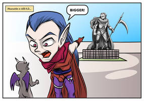 Magus Statue Bigger by mysticalpha