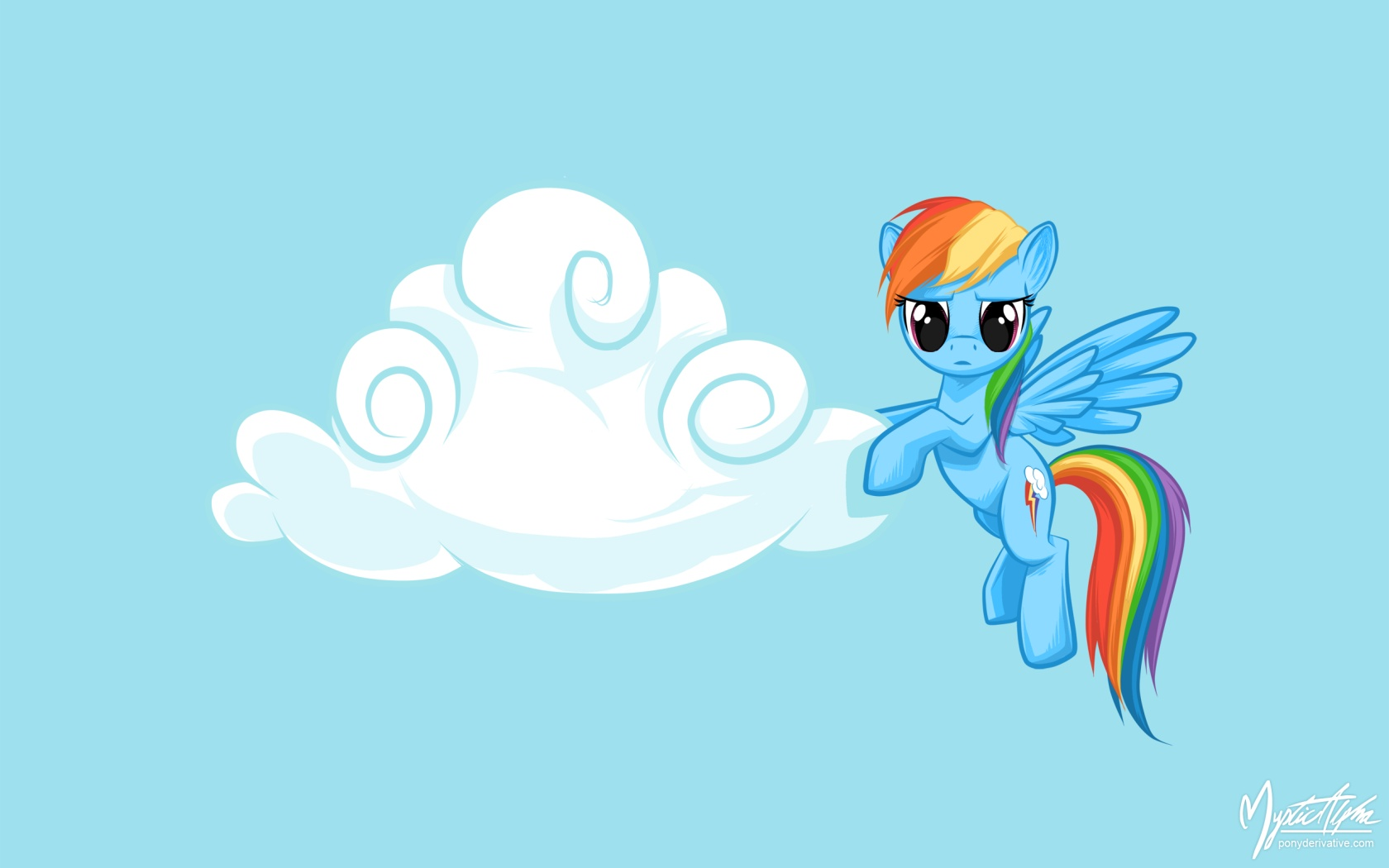 Rainbow Dash Cloud Wrangler by mysticalpha