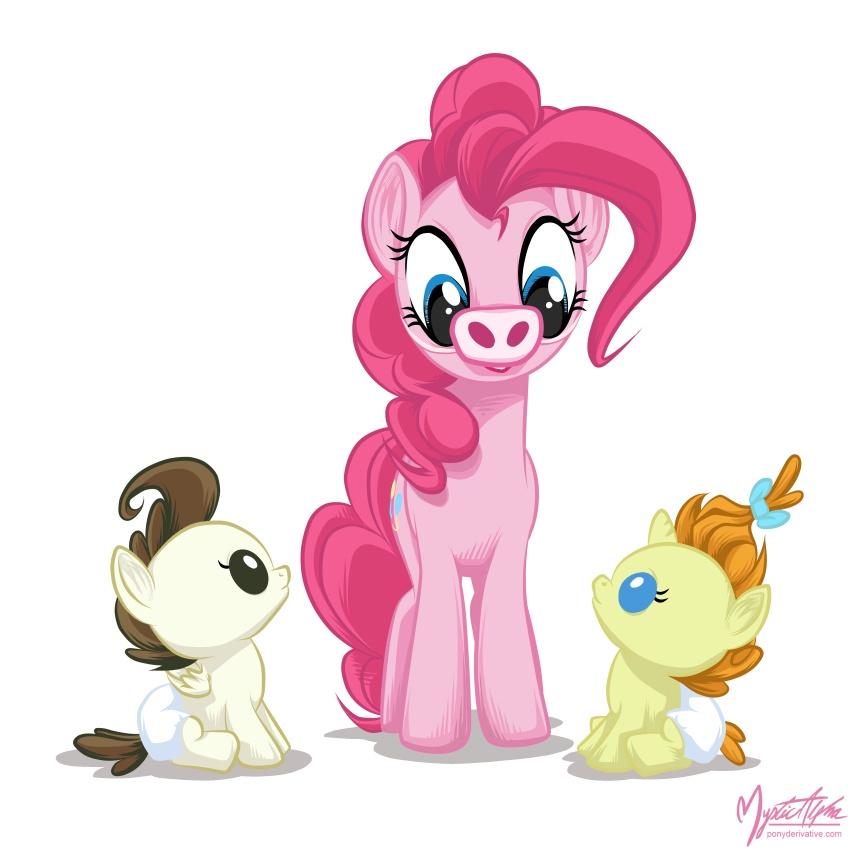Pinkie Pie + Cake Babies by mysticalpha