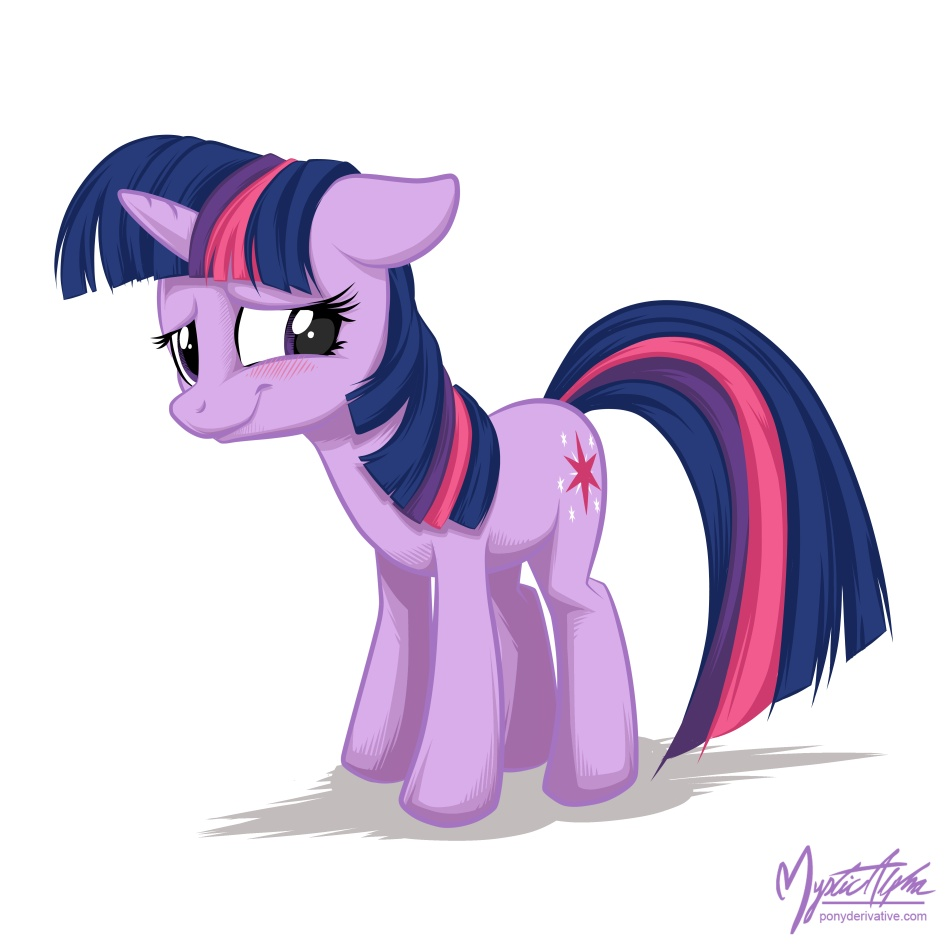Twilight Sparkle - Blush by mysticalpha