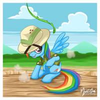 Rainbow Dash as Daring Do by mysticalpha