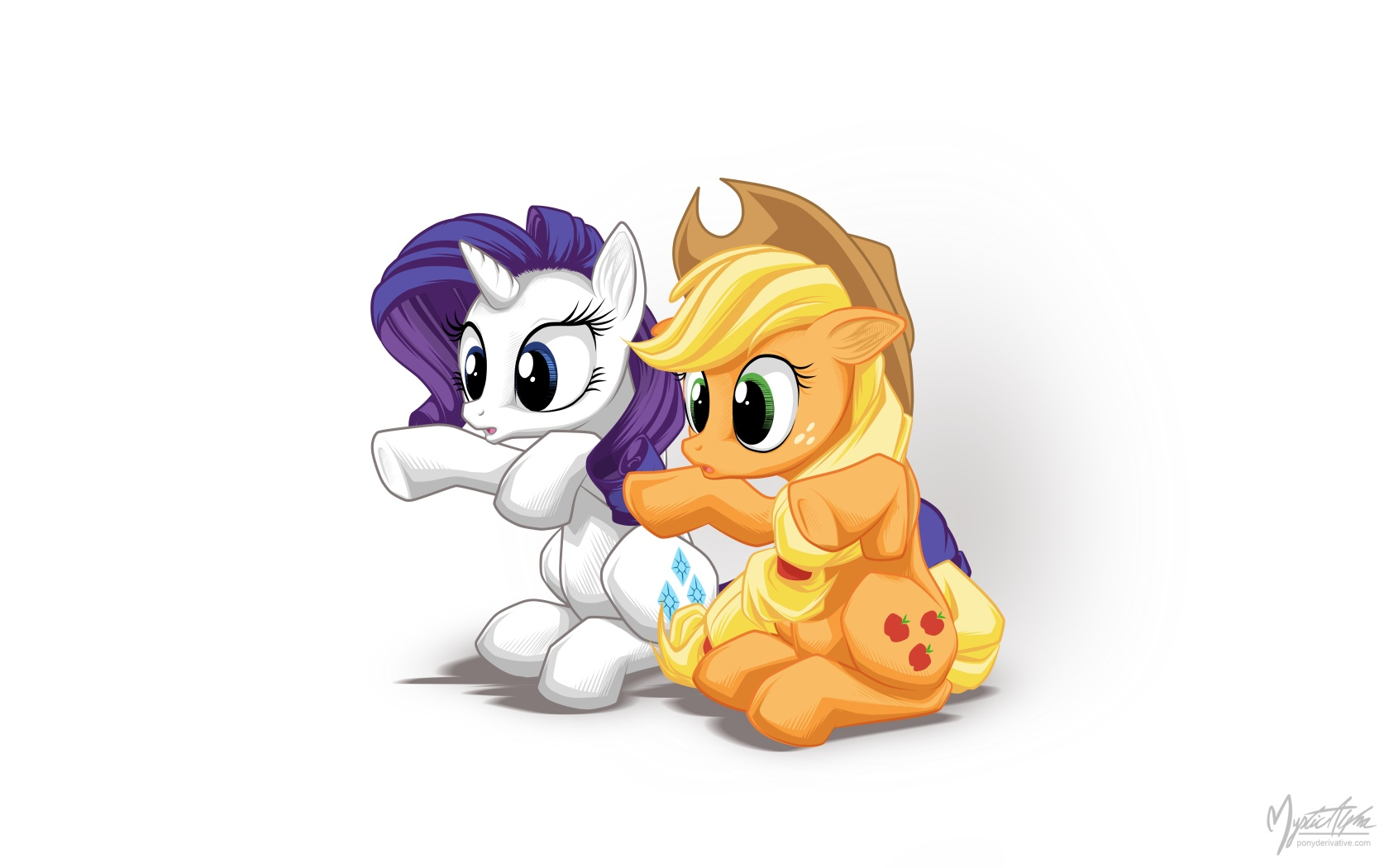 Rarity + applejack = OoOoh by mysticalpha