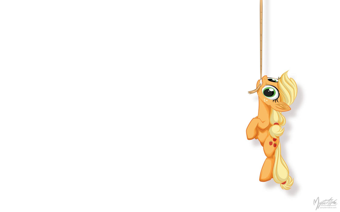 Applejack on a Rope by mysticalpha