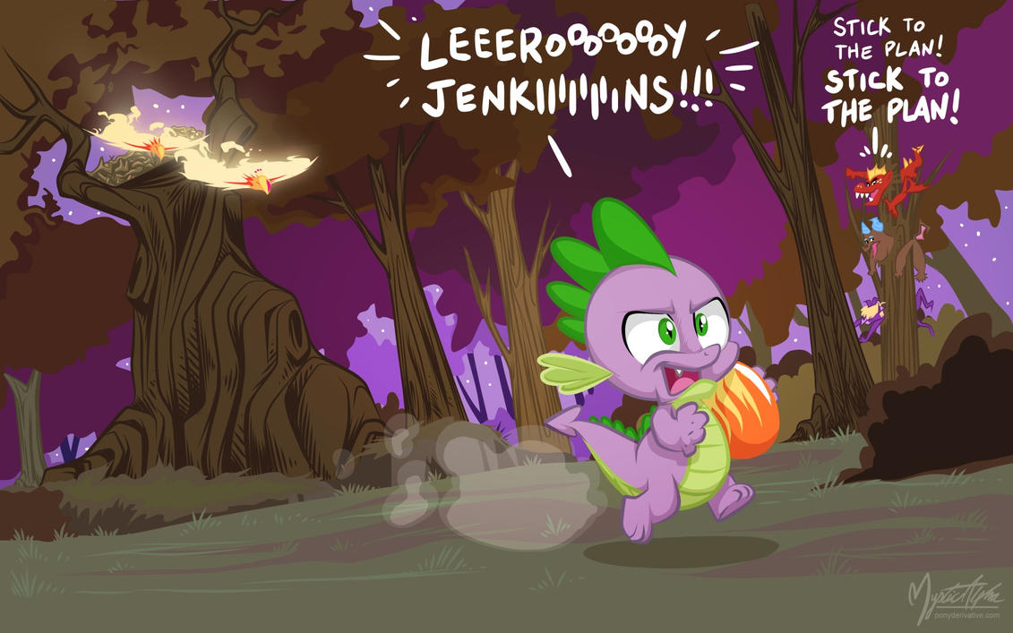 Spike - Dragon Raid by mysticalpha
