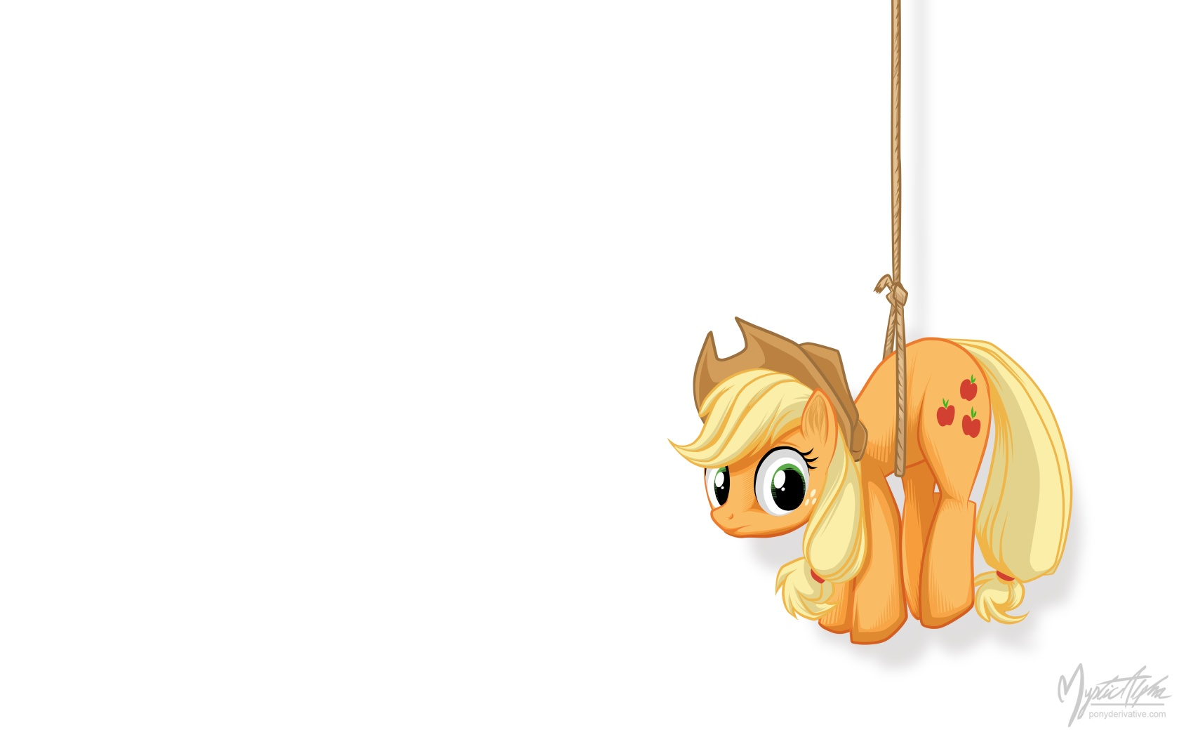 Applejack on a Rope 2 by mysticalpha