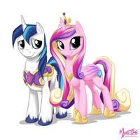 Shining Armor and Princess Cadance