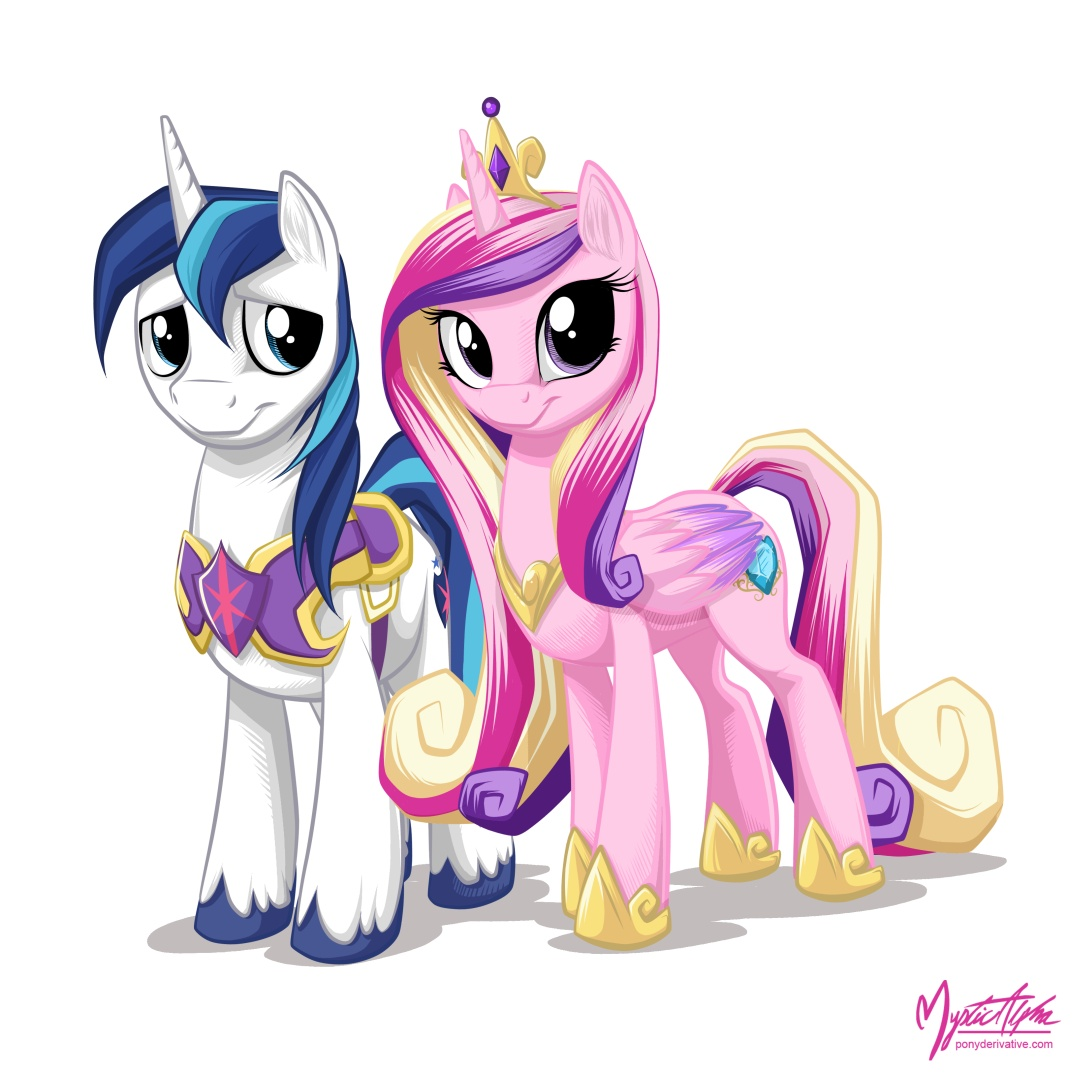 Shining Armor and Princess Cadance by mysticalpha