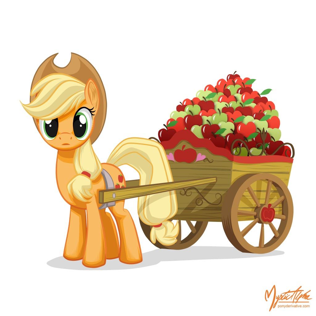 applejack___apple_cart_by_mysticalpha-d4