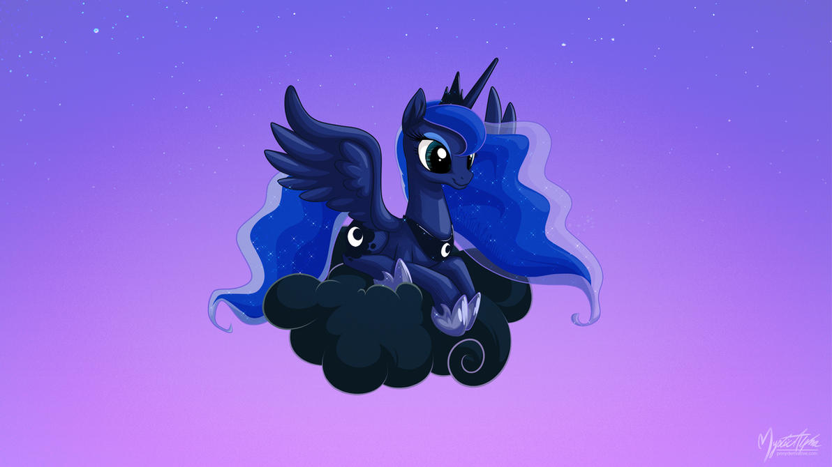 Luna on a Cloud 16:9 by mysticalpha