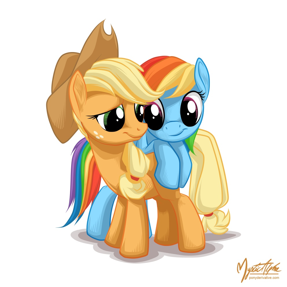 applejack and rainbow dash by applejackawmay, May 3, 2013 in Manga & Anime Digital Media Drawings. applejack and...