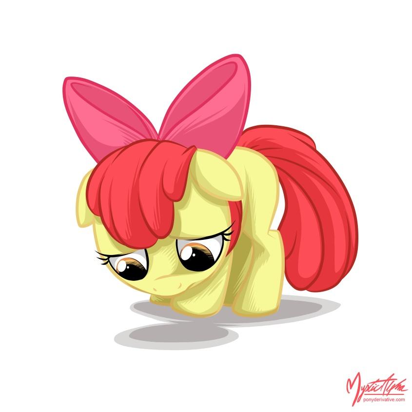 Sad Apple Bloom 3 by mysticalpha