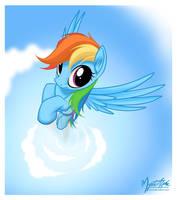 Rainbow Dash Flying 4 by mysticalpha