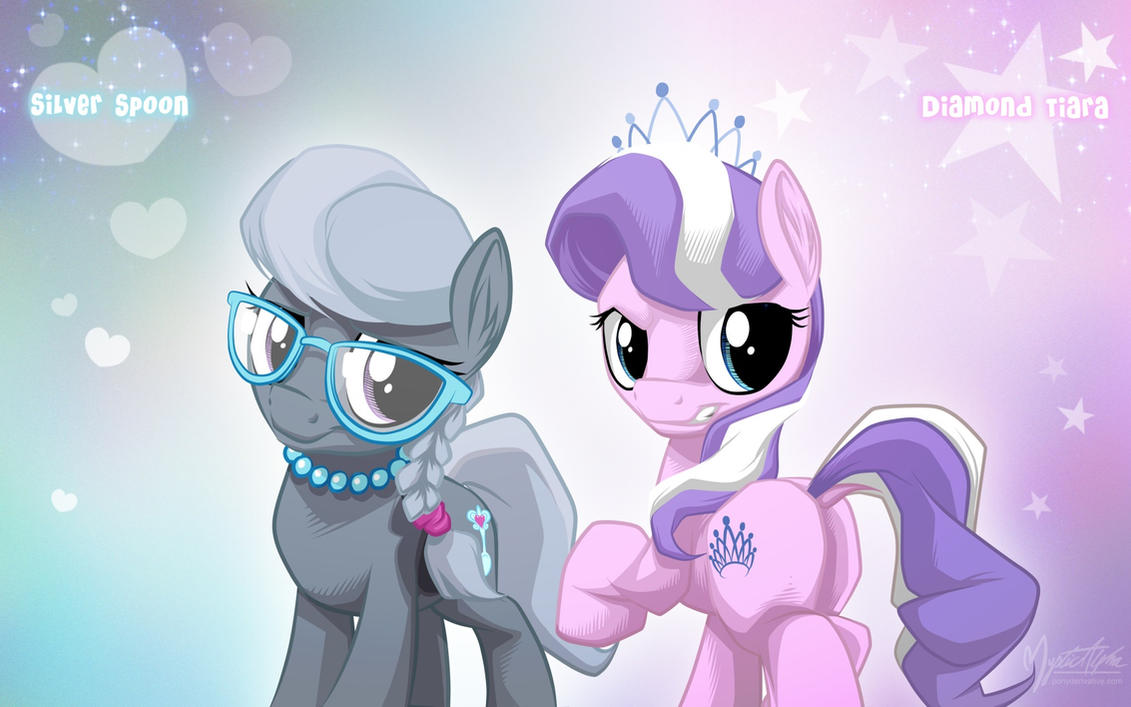Silver Spoon and Diamond Tiara by mysticalpha