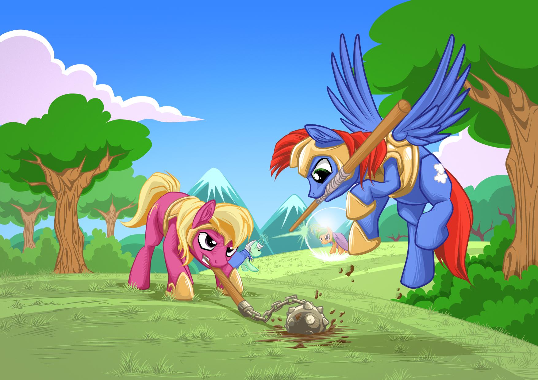 Mock Equestrian Wars Battle Scene Concept by mysticalpha