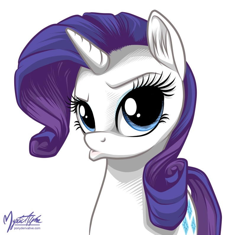 Rarity - Duck Face by mysticalpha