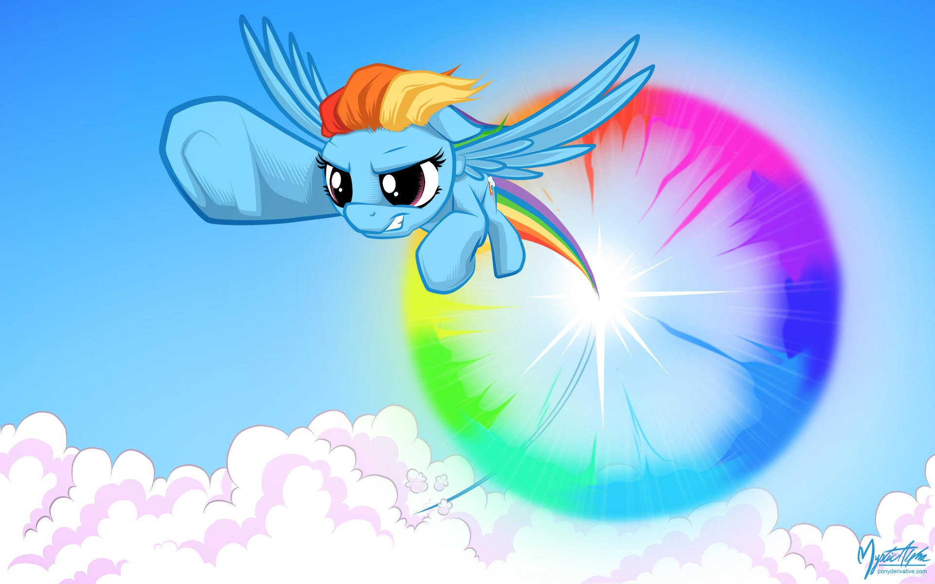 Rainbow Dash Sonic Rainboom by mysticalpha on DeviantArt