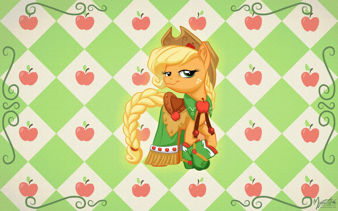 Applejack in Gala Dress by mysticalpha