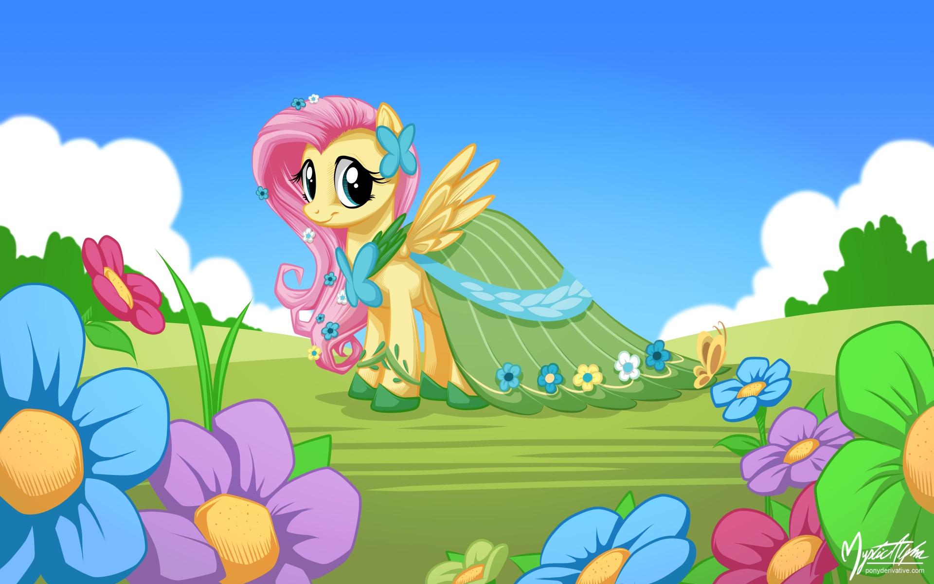 Fluttershy in Gala Dress by mysticalpha