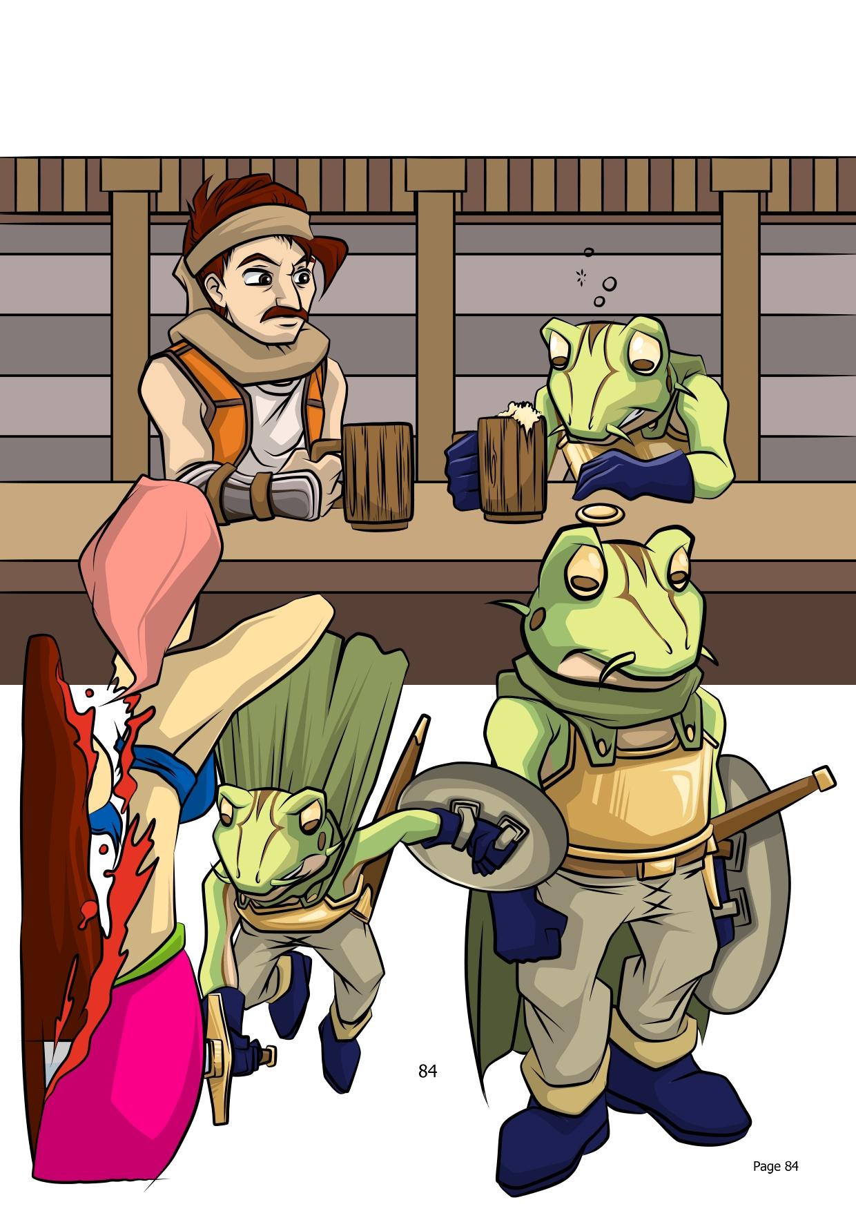 Comic Single WIP - Frogs Errywhere