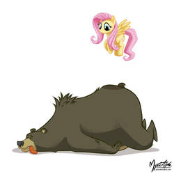 Fluttershy and Mr. Bear