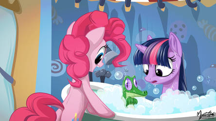 Twilight, Pinkie and Gummy - Bath Time 16.9
