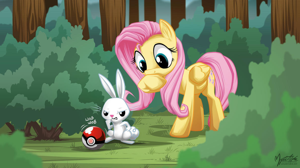 Fluttershy and Angel catches something 16.9 by mysticalpha