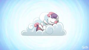 Sweetie Belle on a Cloud 16.9