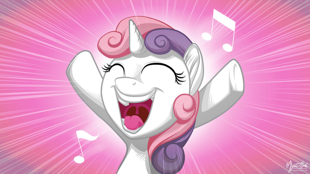 Sweetie Belle Singing 16.9 by mysticalpha