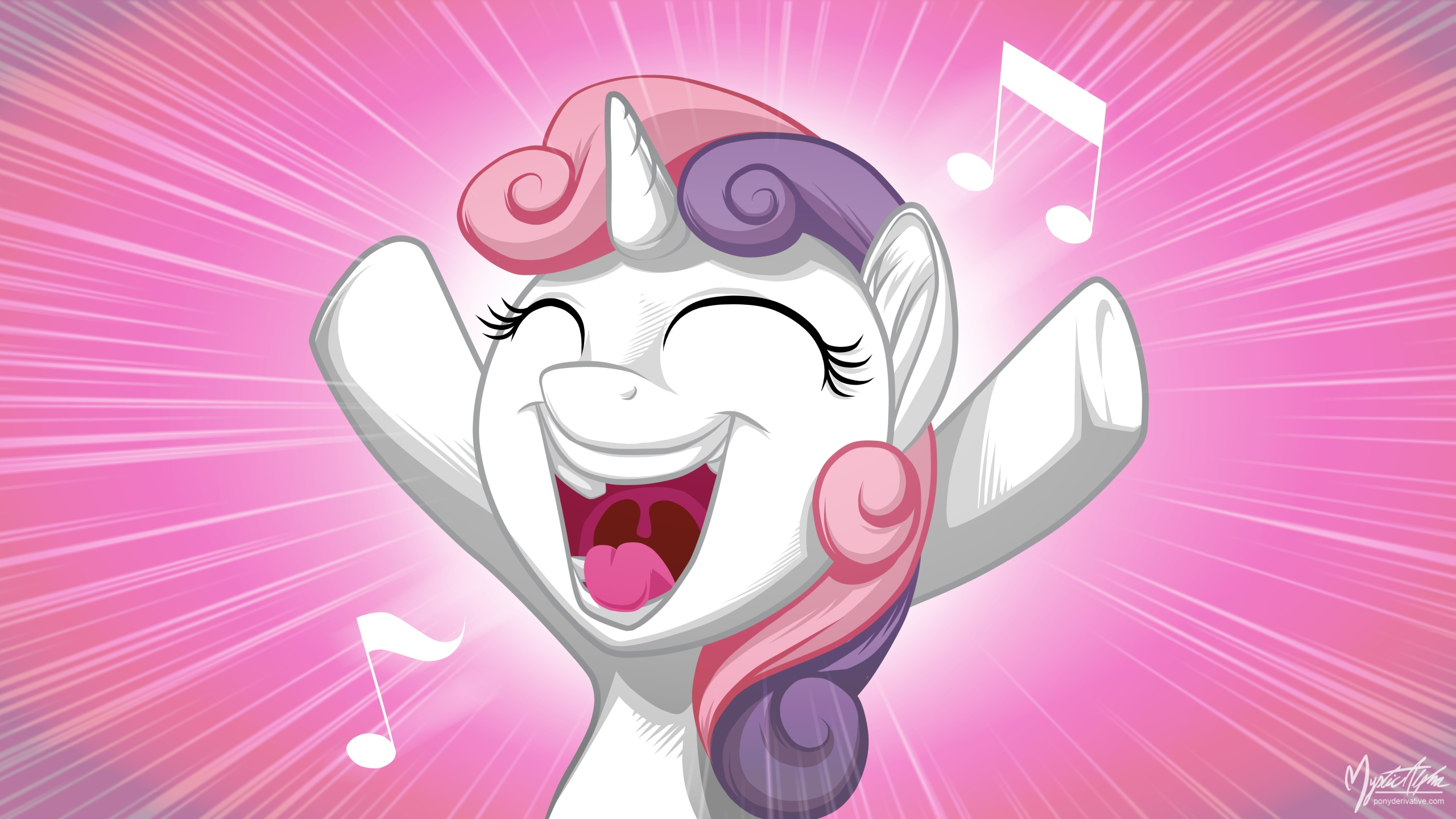Sweetie belle singing by mysticalpha on deviantart